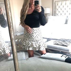 Zara Skirts - Zara size L polka dot skirt